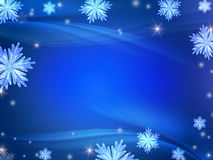 Blue christmas background royalty free illustration