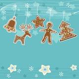 Blue Christmas background. Stock Photo