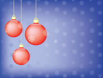Blue christmas background. With christmas tree balls Stock Photo