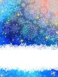 Blue Christmas Background Stock Photography