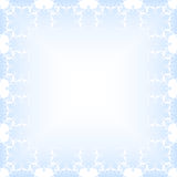 Blue Christmas Background. Ornate christmas frame with borders from snowflakes Royalty Free Stock Photography