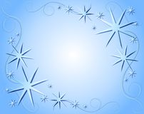 Blue Christmas Background. A background illustration featuring blue stars and ribbons Royalty Free Stock Photos