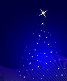 Blue christmas background. Vector illustration royalty free illustration