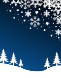 Blue christmas background. Vector illustration Stock Image