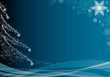 Blue christmas background. FIND MORE backgrounds in my portfolio Stock Photo