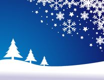 Blue christmas background,. Vector illustration Stock Image