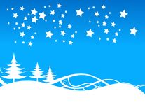 Blue christmas background Royalty Free Stock Photography