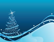 Blue christmas background. For christmas holidays, occasions and greeting card Stock Image