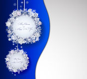Blue Christmas background with abstract decorations Royalty Free Stock Photos