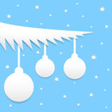 Blue Christmas background. With balls and stars Royalty Free Stock Photos