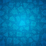 Blue christmas background with bell, star, snow, tree, vector. Illustration Stock Photography