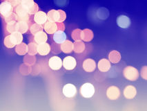 Blue christmas background with bokeh lights Royalty Free Stock Photos
