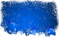 Blue Christmas background with Christmas balls Royalty Free Stock Images