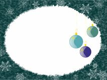 Blue christmas background with decoration Stock Photo