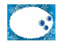 Blue christmas background with decoration Stock Image