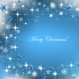 Blue christmas background with decoration Royalty Free Stock Image