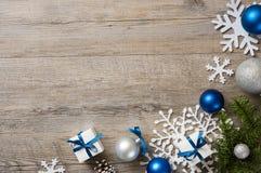 Blue christmas background Royalty Free Stock Image
