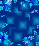 Blue Christmas background in elegant style. Royalty Free Stock Photos