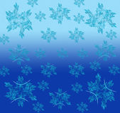Blue Christmas background in elegant style. Royalty Free Stock Image
