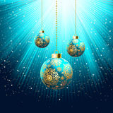 Blue Christmas Background. EPS 8 Royalty Free Stock Photography