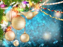 Blue Christmas background. EPS 10 Stock Images