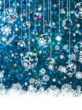 Blue Christmas background. EPS 8 Stock Photos
