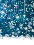 Blue Christmas background. EPS 8 Stock Photos
