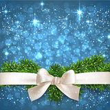Blue christmas background. Royalty Free Stock Image