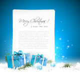 Blue Christmas background vector illustration