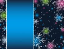 Blue christmas background, illustration Stock Images
