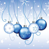 Blue Christmas Background - Illustration Royalty Free Stock Photos