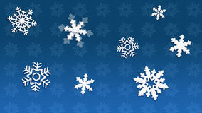 Blue Christmas Background. 4K White snowflakes on a blue background. You can use this material to create images for postcard or background or wallpaper or WEB stock illustration