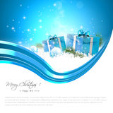 Blue Christmas background stock illustration