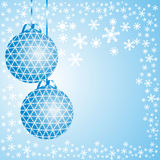 Blue christmas background. Royalty Free Stock Photography