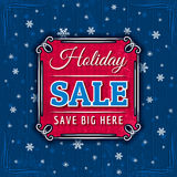 Blue christmas background and sale offer Stock Photos