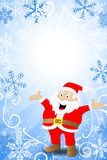 Blue christmas background with santa claus Stock Photography