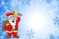 Blue christmas background with santa claus Royalty Free Stock Photography