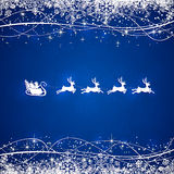 Blue Christmas background with Santa Royalty Free Stock Images