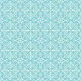 Blue christmas background with seamless pattern, vector Royalty Free Stock Image