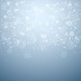 Blue Christmas background Stock Images