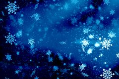 Blue Christmas background snow texture, abstraction, snowflakes royalty free stock image