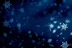 Blue Christmas background snow texture, abstraction, snowflakes stock photos