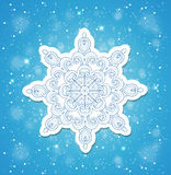 Blue Christmas background with snowflake Stock Images