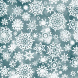 Blue christmas background with snowflake. EPS 8 Stock Photo