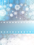 Blue christmas background with snowflake. EPS 8 Royalty Free Stock Photos