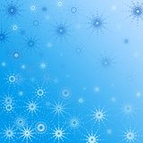 Blue Christmas background. Snowflakes Stock Photography