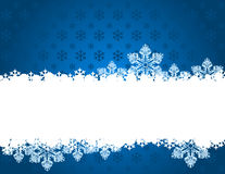 Blue christmas background with snowflakes. Stock Photos