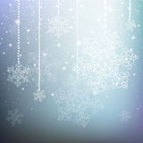 Blue Christmas background. With snowflakes Stock Image