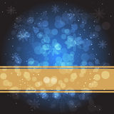 Blue Christmas background. A blue Christmas background with snowflakes Royalty Free Stock Photo