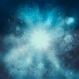 Blue Christmas background. Christmas background with snowflakes Stock Photo